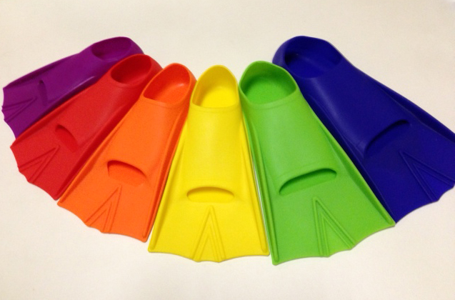 silicone childrens swim fins