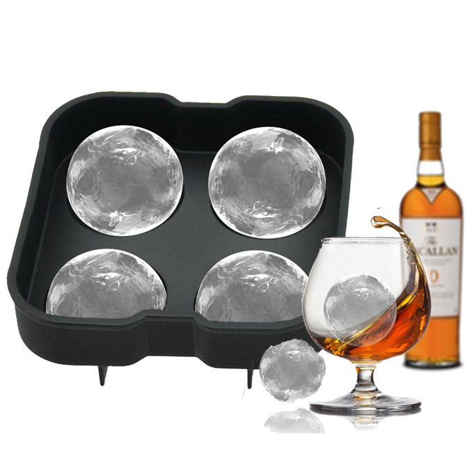 RENJIA whisky silicone ice ball silicone ice ball ice ball mold tray fda